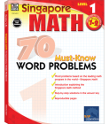 70 Must-Know Word Problems, Grades 1 - 2 (Singapore Math 70 Must Know Word Problems) Cover Image