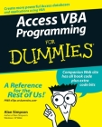 Access VBA Programming for Dummies Cover Image