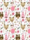 Notebook: Pink Bear, Cat & Owl Notebook For Girls, Large Size - Letter, Wide Ruled Cover Image