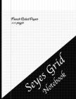 Seyes Grid Notebook: 200 Pages of Seyes grid system graph paper book for French cursive handwriting, calligraphy, writing practice, 8.5
