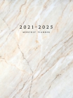 2021-2025 Monthly Planner Hardcover: Large Five Year Planner with Marble Cover (Volume 2) Cover Image