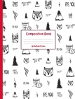 Composition Book: with Wide Ruled Lines - Cute Tribal Cover Cover Image