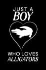 Just A Boy Who Loves Alligators: Blank Lined Journal Notebook, 6