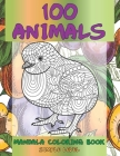 Mandala Coloring Book Simple Level - 100 Animals Cover Image
