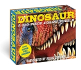 Dinosaurs: 550-Piece Jigsaw Puzzle & Book: A 550-Piece Family Jigsaw Puzzle Featuring the T-Rex Handbook! (Discovering) Cover Image