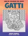 Libri da colorare per adulti - Stampa grande fiori - Animali Mandala - Gatti Cover Image