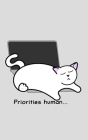 Catlover's Notebook - Blank Lined Pages - Priorities Human Cover Image