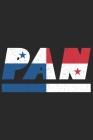 Pan: Panama Tagesplaner mit 120 Seiten in weiß. Organizer auch als Terminkalender, Kalender oder Planer mit der Panama Flag Cover Image