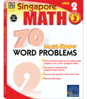 70 Must-Know Word Problems, Grade 3 (Singapore Math 70 Must Know Word Problems) Cover Image