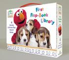Elmo's World: First Flap-Book Library (Sesame Street): Balls!; Puppies!; Babies!; Food! (Sesame Street(R) Elmos World(TM)) Cover Image