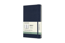 Moleskine 2020-21 Weekly Horizontal Planner, 18M, Large, Sapphire Blue, Hard Cover (5 x 8.25) Cover Image