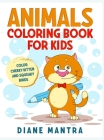 Animals coloring book for kids: Color cheeky kitten and squeaky birds Cover Image