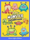 Monsters: Coloring book for kids and adults Cover Image