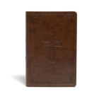 CSB Large Print Personal Size Reference Bible, Brown Celtic Cross LeatherTouch Cover Image