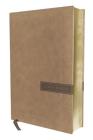 Biblia Nbla, Una Columna Con Referencias, Letra Grande, Leathersoft, Beige, Edición Letra Roja Cover Image