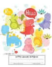 Dotted Midline Notebook For kids 3-5: Dotted Midline Notebooks and Write/Early Childhood to Kindergarten Dinosaur cover Cover Image