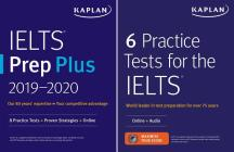 IELTS Prep Set: 2 Books + Online (Kaplan Test Prep) Cover Image