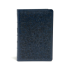 CSB Ultrathin Reference Bible, Navy LeatherTouch, Deluxe Edition Cover Image
