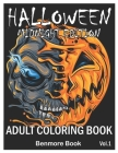 Halloween Midnight Edition: Adult Coloring Book with Beautiful Flowers, Adorable Animals, Spooky Characters, and Relaxing Fall Designs Volume 1 Cover Image