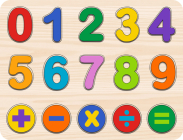 Numbers Kids' Wooden Puzzle (15-Piece Set) Cover Image
