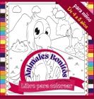 Libro para colorear Animales Bonitos para niños de 4 a 8 años: Divertido libro para colorear de animales de granja y salvajes, 72 páginas Cover Image