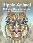 Hippie Animal - Coloring Book for adults - Bat, Quokka, Badger, Fox, other Cover Image