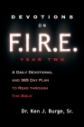 Devotions on F.I.R.E. Year Two: A Daily Devotional and 365 Day Plan to Read Through the Bible Cover Image