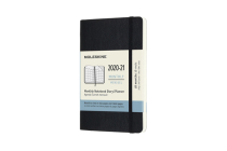 Moleskine 2020-21 Monthly Planner, 18M, Pocket, Black, Soft Cover (3.5 x 5.5) Cover Image