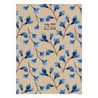 Cal 2020-Kraft Blue Floral Planner Cover Image