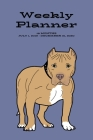 Weekly Planner: Pit Bull; 18 months; July 1, 2019 - December 31, 2020; 6