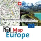 Railpass Railmap Europe: Discover Europe with Icon and Info Illustrated Railway Atlas Specifically Designed for Global Eurail and Interrail Rai Cover Image