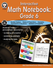 Interactive Math Notebook Resource Book, Grade 6 Cover Image
