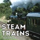 Steam Trains Calendar 2021: 16-Month Calendar, Cute Gift Idea For Train Lovers Women & Men Cover Image
