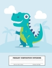 Primary Composition Notebook: Grades K-2 School Exercise Book - 100 Story Pages - Dinosaur Cover Image