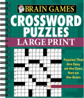 Brain Games - Crossword Puzzles - Large Print (Green) Cover Image