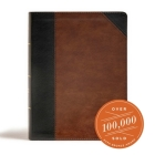 CSB Tony Evans Study Bible, Black/Brown LeatherTouch: Study Notes and Commentary, Articles, Videos, Easy-to-Read Font Cover Image