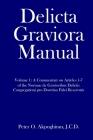 Delicta Graviora Manual: Volume 1: A Commentary on Articles 1-7 of the Normae de Gravioribus Delictis Congregationi pro Doctrina Fidei Reservat Cover Image