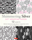 Shimmering Silver Gift Wrapping Papers: 12 Sheets of High-Quality 18 X 24