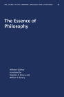 The Essence of Philosophy (University of North Carolina Studies in Germanic Languages a #13) Cover Image
