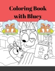 Perfect activity book for kids - Kids Coloring Book (Cute Dogs, Bluey Dogs, Little Bluey Friends-All Kinds of Dogs) Cover Image