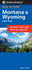 Rand McNally Easy to Fold: Montana, Wyoming (Laminated Fold Map) (Rand McNally Easyfinder) Cover Image