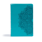 CSB Giant Print Reference Bible, Teal LeatherTouch, Indexed Cover Image