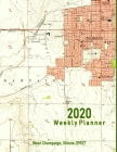 2020 Weekly Planner: West Champaign, Illinois (1957): Vintage Topo Map Cover Cover Image