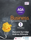 Aqa Business for a Level 1 (Surridge & Gillespie) Cover Image