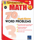 70 Must-Know Word Problems, Grade 4 (Singapore Math 70 Must Know Word Problems) Cover Image