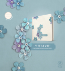 NLT Thrive Creative Journaling Devotional Bible (Hardcover, Blue Flowers) Cover Image