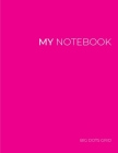 My NOTEBOOK: Dot Grid Magenta Cover Notebook: Large size 101 Pages Dotted Diary Journal - Block Notes Cover Image