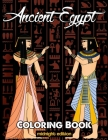 Ancient Egypt Coloring Book Midnight Edition: Relieve Stress and Have Fun with Egyptian Symbols, Gods, Hieroglyphics, and Pharaohs (Printed on Black B Cover Image