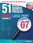 Sam's Extra Large-Print Word Search Games: 51 Word Search Puzzles, Volume 7: Brain-stimulating puzzle activities for many hours of entertainment Cover Image