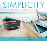 2021 Simplicity -- Inspirations for a Simpler Life Boxed Daily Calendar Cover Image